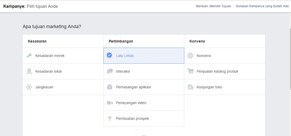 Memahami Kampanye Dalam Membuat Iklan Facebook Ads