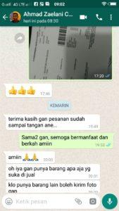 contoh testimonial di chat